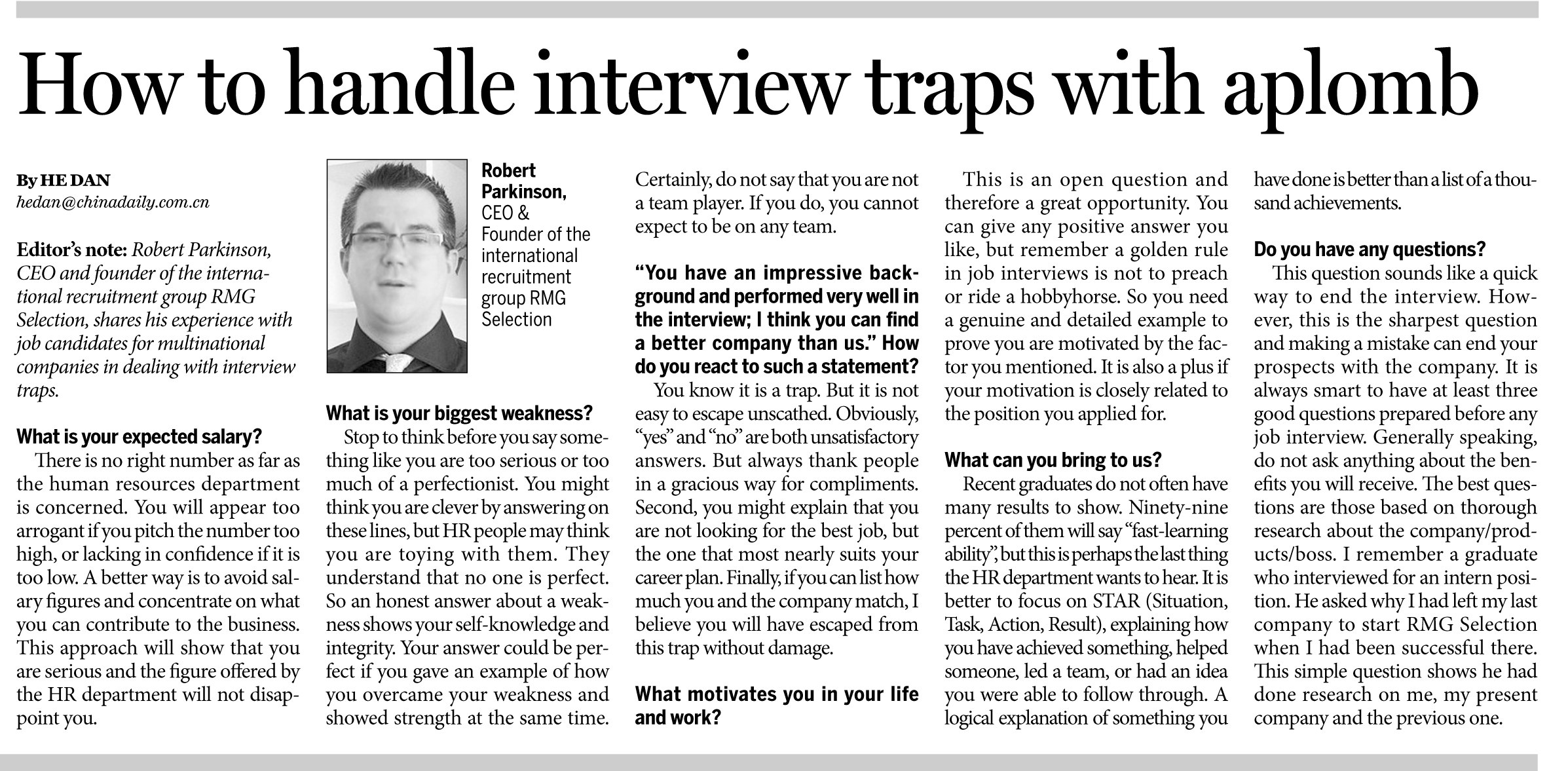 rmg selection how to handle interview traps aplomb news daily 00000 20140825 m 008 300